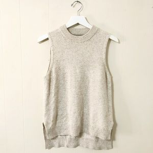 Lou & Grey cream knit sweater tank (S)